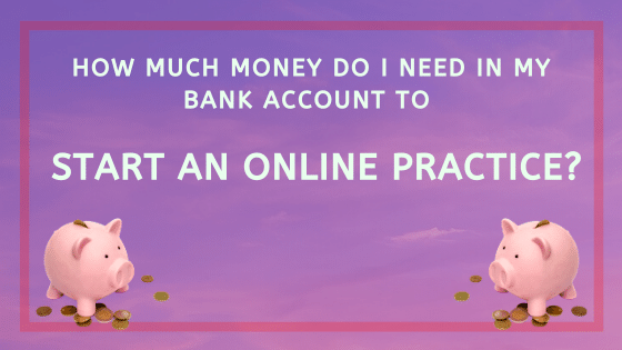 How much does it cost to start on online practice?